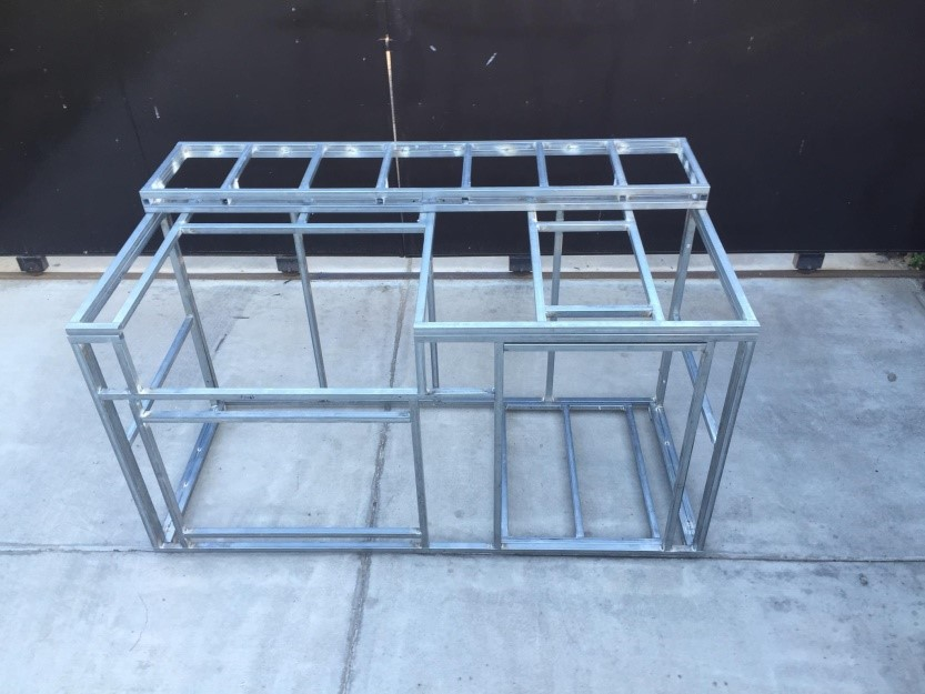 Bbq island frame kit diy 6 with back bar for Home bar kits and plans